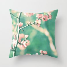 Softly Spring Love Throw Pillow