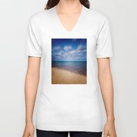 running V-neck T-shirts featuring Running Water by Phil Perkins