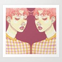 mirror bubblegum boy Art Print