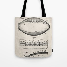 Football Patent - American Football Art - Antique Tote Bag