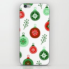 Christmas Decorations Pattern iPhone Skin