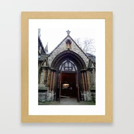 St. Mary Abbots South Porch Framed Art Print