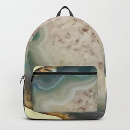 Blue, Green, & Teal Geode Pattern Backpack