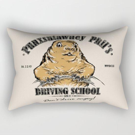 Punxsutawney Phil's Driving School Rectangular Pillow