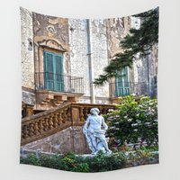 baroque Wall Tapestries featuring eighteenth century baroque by  Agostino Lo Coco