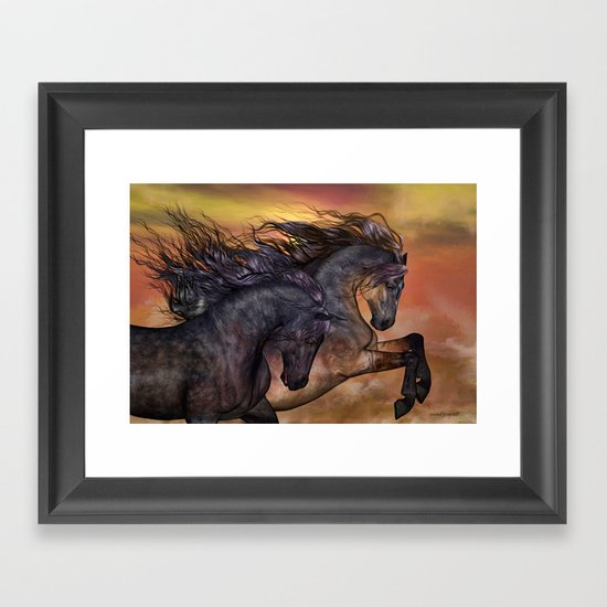 HORSES - On sugar mountain Framed Art Print