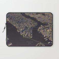 Manhatten city map II Laptop Sleeve