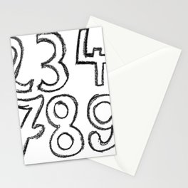 crayon numbers Stationery Cards
