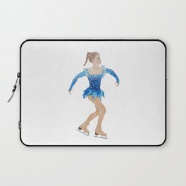 Girl with pigtail. Figure skater Laptop Sleeve