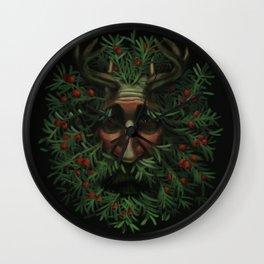 Yew Green Man Wall Clock