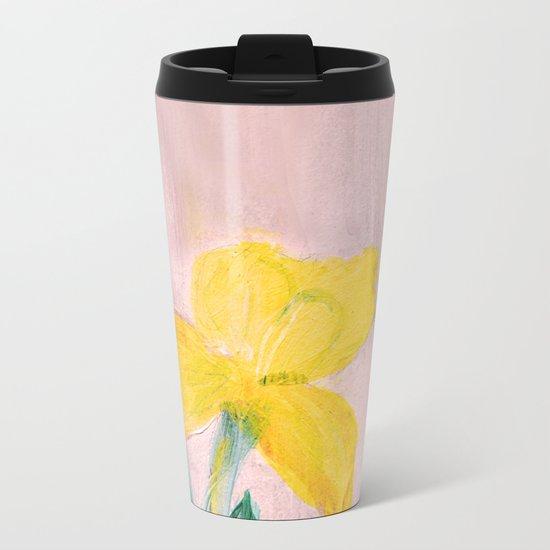 Sunny iris Metal Travel Mug