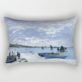 Claude Monet : Regatta at Sainte-Adresse / The Beach at Sainte Adresse Rectangular Pillow