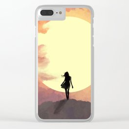 Hope at sunset Clear iPhone Case