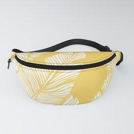 Banana Leaves on Yellow #society6 #decor #buyart Fanny Pack