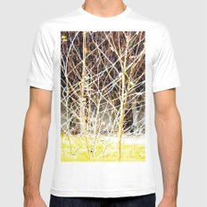 Nature finds the way inside... and outside... Everywhere! White Mens Fitted Tee MEDIUM