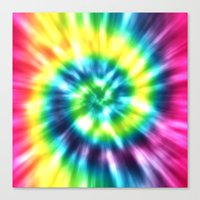 tie dye Canvas Prints featuring Tie Dye by Patterns of Life