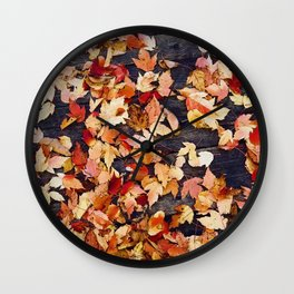 Fall Leafs (Color) Wall Clock