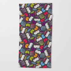 So Many Colorful Books... Beach Towel