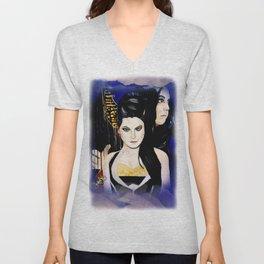 Evanescence Amy Lee Harp Painting  Unisex V-Neck