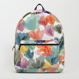 Gold Flowers Backpack