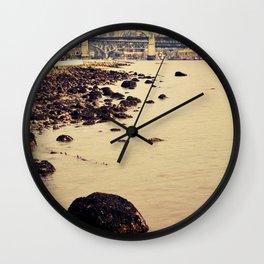 rocks to burrard Wall Clock