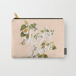Peachy Keen : Peach Carry-All Pouch