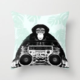 Jungle Music 02 Throw Pillow
