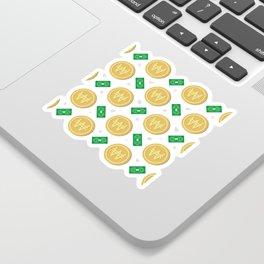 Korean won pattern background Sticker