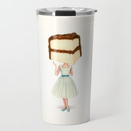 Cake Head Pin-Up - Chocolate Travel Mug