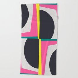 Modern Geometric 65 Pink Beach Towel
