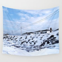 Sea Wall And Twin Houses Wall Tapestry