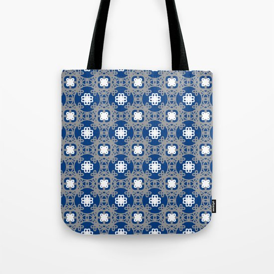 Blue white and grey square floral by missema5