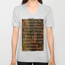The Prayer of St Francis of Assisi Unisex V-Neck