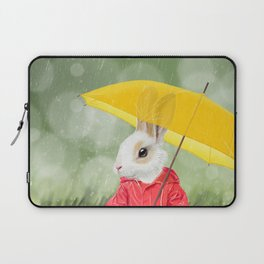 It's raining, little bunny! Laptop Sleeve