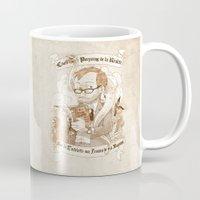 bouletcorp Mugs featuring Autoportrait by Bouletcorp