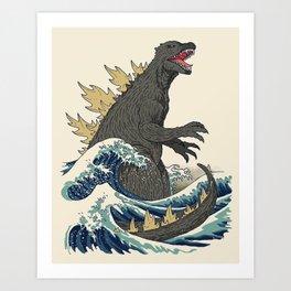 The Great Monster Off Kanagawa Art Print