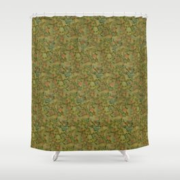 1950's Retro Laminate Marble Pattern Shower Curtain