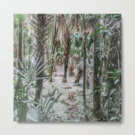 Palm Trees in the Green Swamp Metal Print