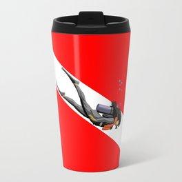 Diver And Dive Flag Travel Mug