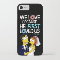 simpson iPhone & iPod Cases featuring Simpson love by LOVEcm