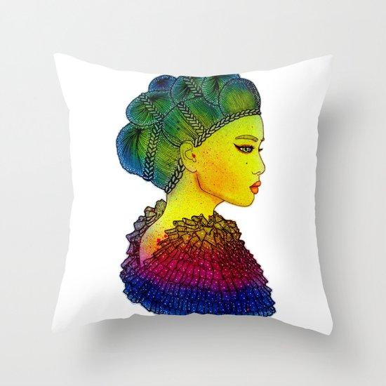 Rainbow Power Girl! Throw Pillow