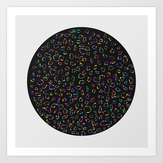 Universe inside a Circle Art Print