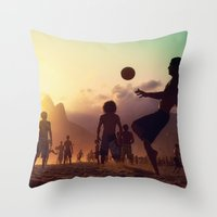 brasil Throw Pillows featuring Brasil by afzucatti