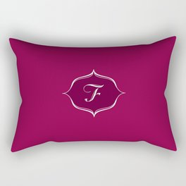 F Monogram Burgundy Rectangular Pillow