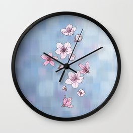 Cherry Blossoms Wall Clock