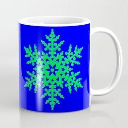 Snowflake in Blue Field, Gift Coffee Mug