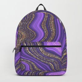 Purple & Gold Agate Backpack