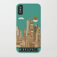 minneapolis iPhone & iPod Cases featuring Minneapolis skyline by bri.buckley