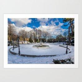 Main Fountain, Villa Comunale Art Print