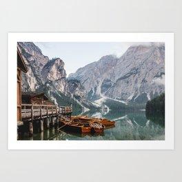 Day at the Mountain Lake Art Print